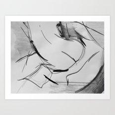 nude 4 Art Print