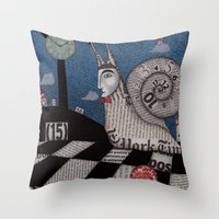 A Snaily Story Throw Pillow