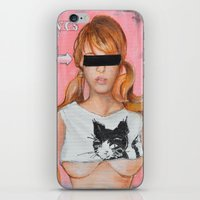 Here Kitty Kitty iPhone & iPod Skin