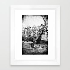 Morning Yoga @ Zanpa Jam II Framed Art Print