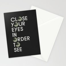 CLOSE YOUR EYES Stationery Cards