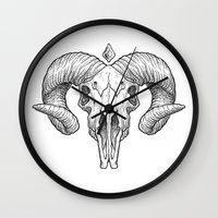 Skull Sketch Wall Clock