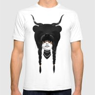 Bear Warrior Mens Fitted Tee White SMALL