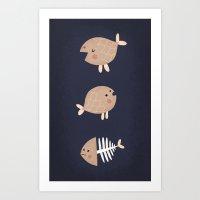 fish emotions. Art Print