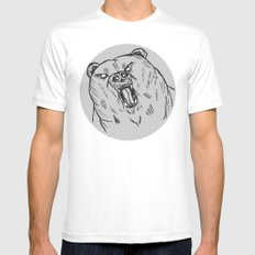 Burr SMALL Mens Fitted Tee White