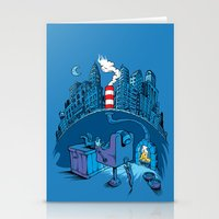 The Cat in the Underground Flat Stationery Cards