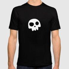 Skull Head logo with Three Teeth   Bones, white, pirates, symbolism, mortality, death, Halloween Mens Fitted Tee Black SMALL
