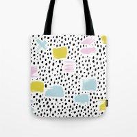 Pastel spots and dots Tote Bag