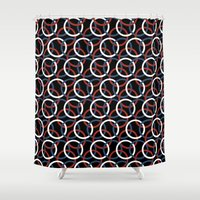Olympica Black Shower Curtain