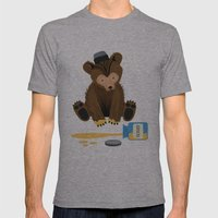 The Honey Bear Mens Fitted Tee Athletic Grey SMALL