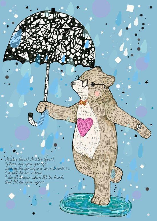 Mister Bear Canvas Print