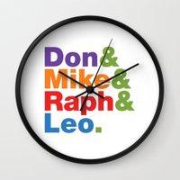 Don & Mike & Raph & Leo. Wall Clock