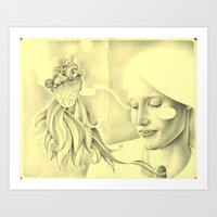 And That Moment Was All … Art Print