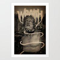 Art Print featuring WRAITH - Skin & Soul Divide by Eric Zelinski