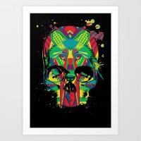 HowlinSkull Art Print