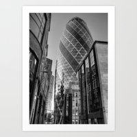 London Gherkin, London Art Print