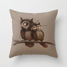 Owl Love Throw Pillow