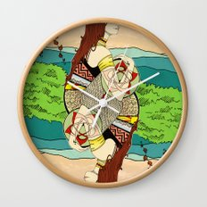 The Queen (Twins) Wall Clock