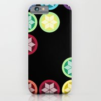 iPhone & iPod Case featuring Colorful Snowflake Print: Black by Devin Marie