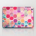 Rainbow Honeycomb - colorful hexagon pattern iPad Case