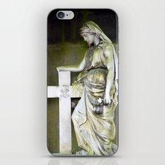 Green angel iPhone & iPod Skin