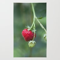 Red Ripe Strawberry Rug