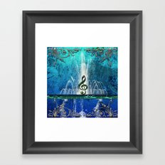 Music, Clef Framed Art Print