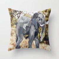 Elephant! Throw Pillow
