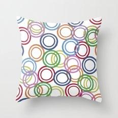 Discs Throw Pillow