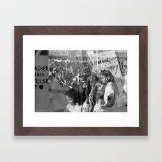 Humanity, Solidarity, Freedom Framed Art Print