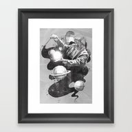 Framed Art Print featuring Space Symphony by Kyle Cobban