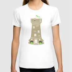 Castle Womens Fitted Tee White SMALL
