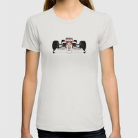 Senna MP4/4 Womens Fitted Tee Silver SMALL