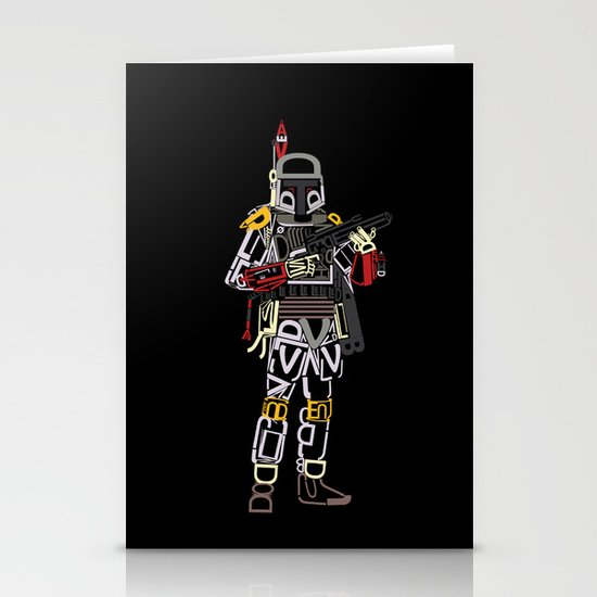 Boba Font Stationery Card
