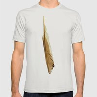 Feather Photograph: Suav… Mens Fitted Tee Silver SMALL