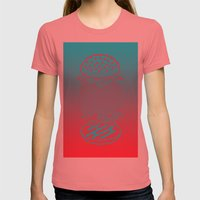 Burgertime Womens Fitted Tee Pomegranate SMALL