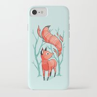 fox iPhone & iPod Cases featuring Winter Fox by Freeminds