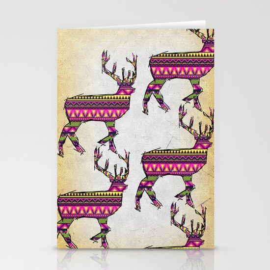 Deer Navajos pattern Stationery Card