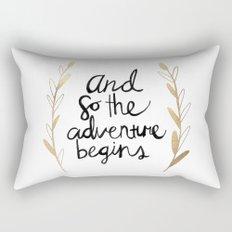 The Adventure Begins Rectangular Pillow
