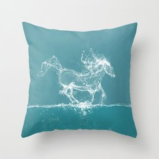 The Water Horse Throw Pillow
