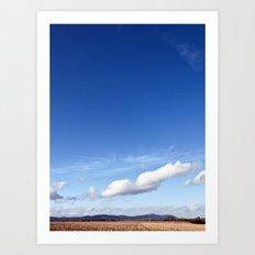 with a sky blue sky... Art Print