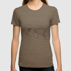 world Womens Fitted Tee Tri-Coffee SMALL