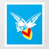 Zooport Cherub Art Print