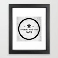 Veterans' Memorial Park Framed Art Print