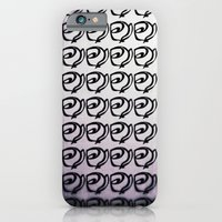 iPhone & iPod Case featuring Rows of Flowers, Purple by Noelle Tru's Mom