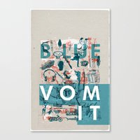 BlueVomit Canvas Print