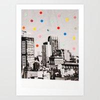 Citydots Art Print