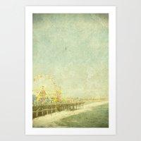Santa Monica Ferris Whee… Art Print