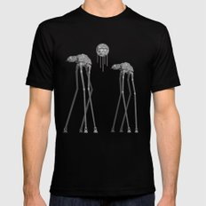 Dali's Mechanical Elephants - Black Sky Black SMALL Mens Fitted Tee