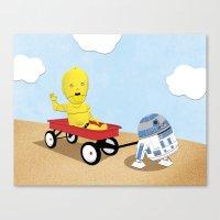 SW Kids - C3PO & R2D2 Re… Canvas Print